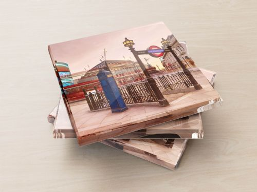 Piccadilly Circus - Glass Coasters